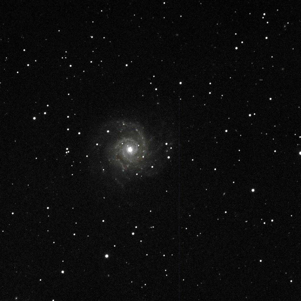 M74 two 15-minute exposures, SBIG ST-4000XCM, 180mm f/9, October 17, 2009
