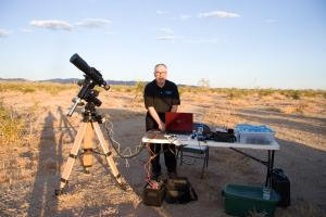 Mojo setting up for astrophotography