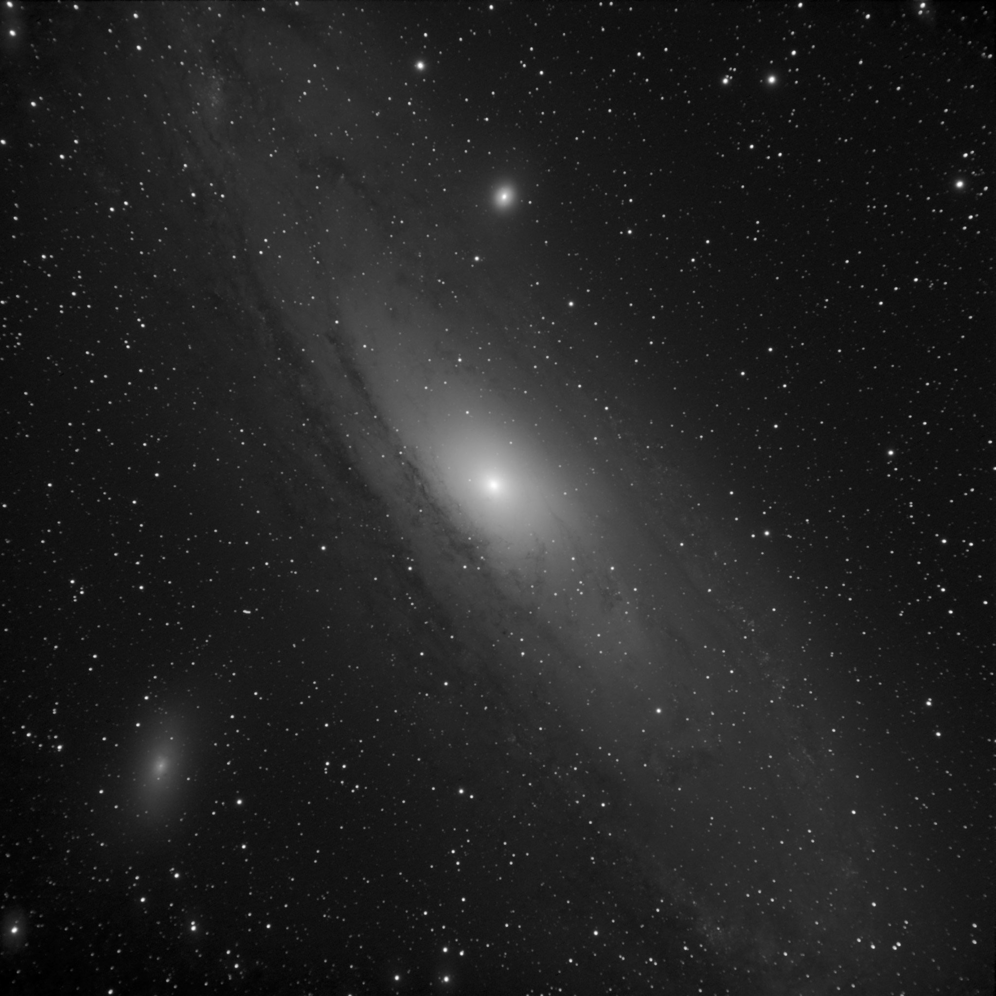 The Great Galaxy in Andromeda, M31, with M32 and M110 nearby