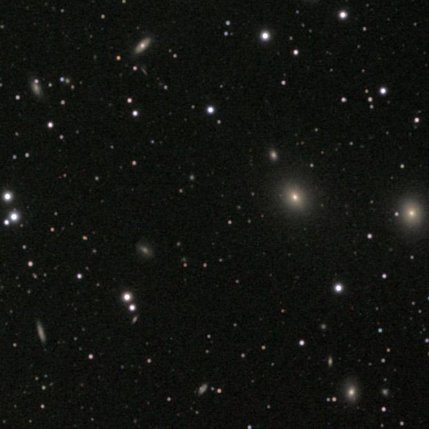 Pegasus 1 galaxy cluster detail