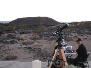 Mojo with Amboy Crater