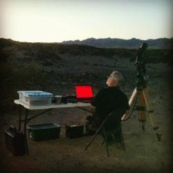 Mojo at Amboy Crater
