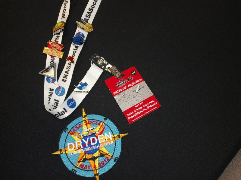 New NASA Social lanyard, badge and patch, old tweetup pins