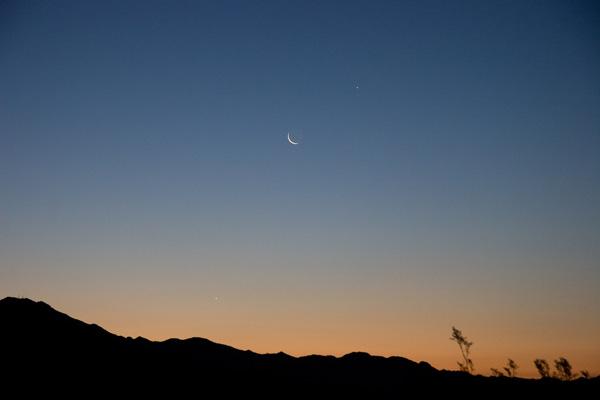 Jupiter, Moon, Venus