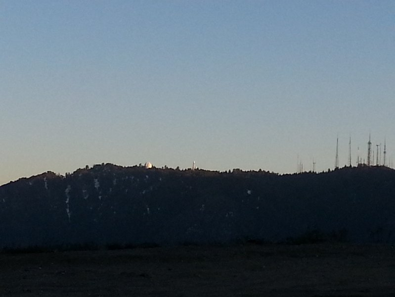 Passing Mt. Wilson telescopes from Angeles Crest Highway