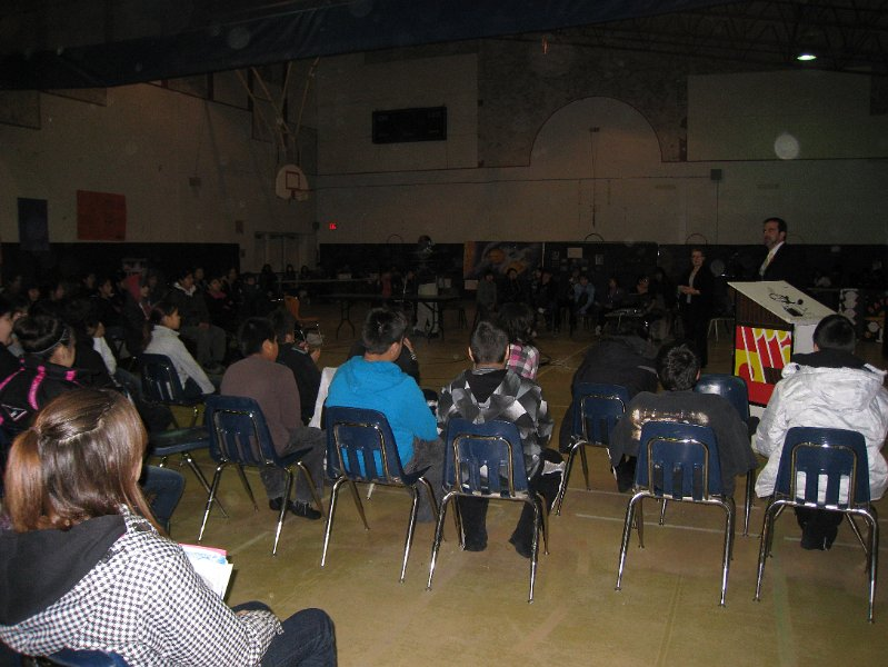 my school talk at Otetiskiwin Kiskinwamahtowekamik K-8th school in Nelson House