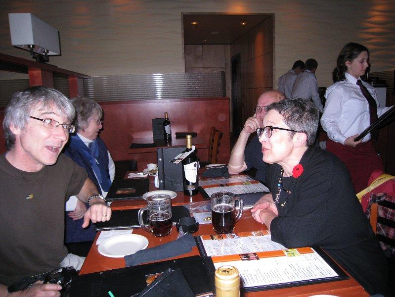 RASC Ron Berard and Guy Westcott at speaker dinner before my RASC talk